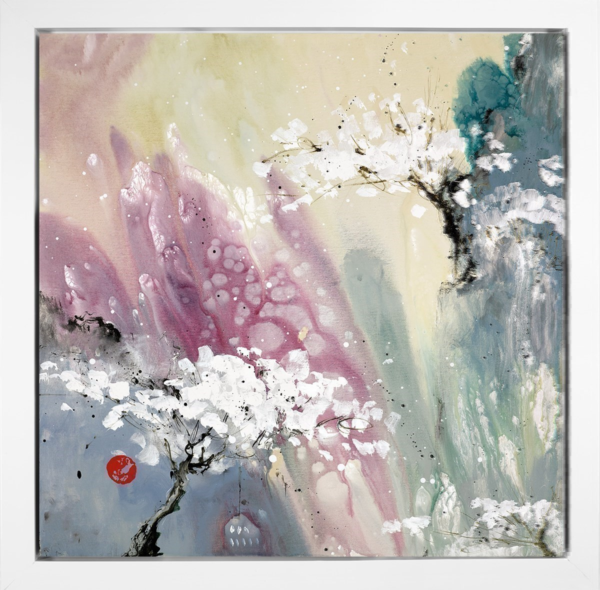 Love Poem I by Danielle O'Connor Akiyama - Glazed Limited Edition Box Canvas sized 22x22 inches. Available from Whitewall Galleries